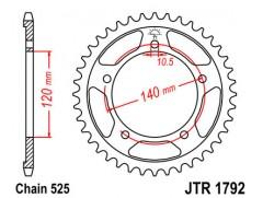 Звезда задняя Suzuki GSX-R600 (01-05), GSX-R750 (06-10)