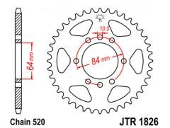 Звезда задняя JTR1826.40