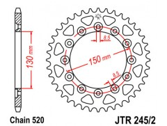 Звезда задняя для Yamaha WR250F / WR450F