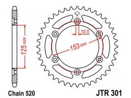Звезда задняя JTR301.48