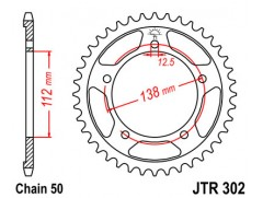 Звезда задняя JTR302.41