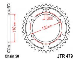 Звезда задняя JTR479.45 для Yamaha FZ-1, YZF-R1