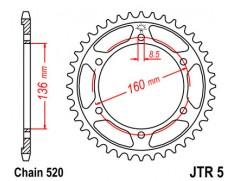Звезда задняя JTR5.43