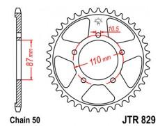 Звезда задняя JTR829.47