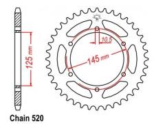 Звезда задняя Sunstar для Yamaha MT-03 (06-12)