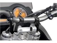 Варио-адаптер для руля 28 мм с изменяемым углом наклона, черный