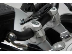 Проставки для увеличения высоты руля Ø28мм на 30 мм фрезерованные серебристые