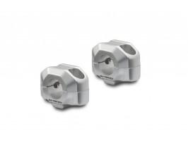 Проставки для поднятия руля мотоцикла Ø 22 на 1,5 см серебристые