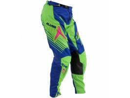 Мотоштаны кроссовые  A1 BLUE/NEON GREEN