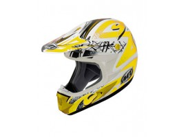 Мотошлем MT MX-1 бело-желтый
