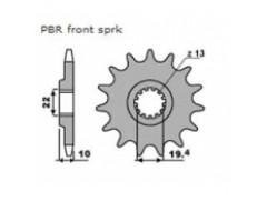 Звезда передняя PBR 435.13 для SUZUKI DR-Z250, DR250