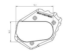 Опора боковой подножки для BMW R1200 GS (13-).
