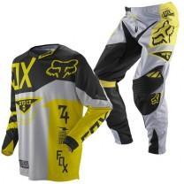 Мотоформа детская кроссовая 360 MACHINA штаны W26 + 360 MACHINA джерси L желтая