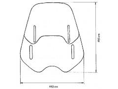 Стекло ветровое универсальное MRA Varioscreen прозрачное